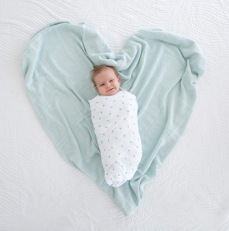 Amazing Baby Cellular Blanket Sunwashed Blue Premium Cotton