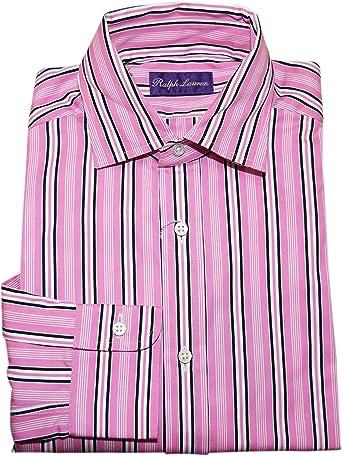 Ralph Lauren Polo Purple Label Mens Dress Shirt Pink Black Stripe ...