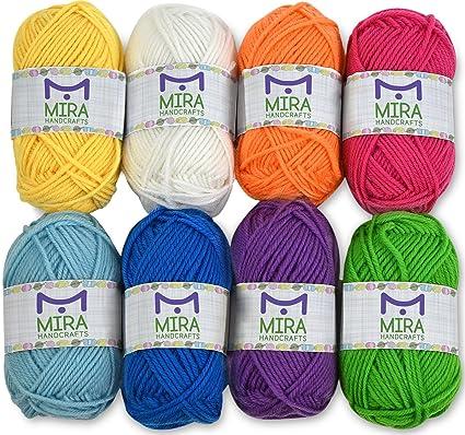 Amazoncom Mira Handcrafts 8 Acrylic Yarn Bonbons Total Of 525