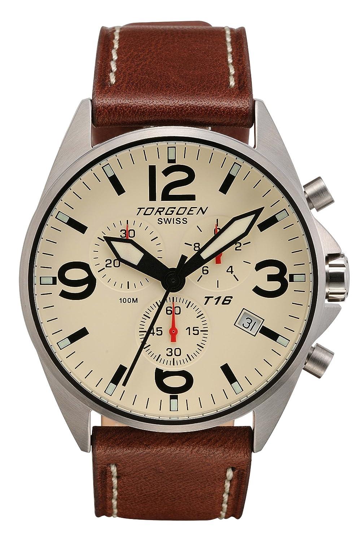 Torgeon Herren-Armbanduhr Analog beige T16103