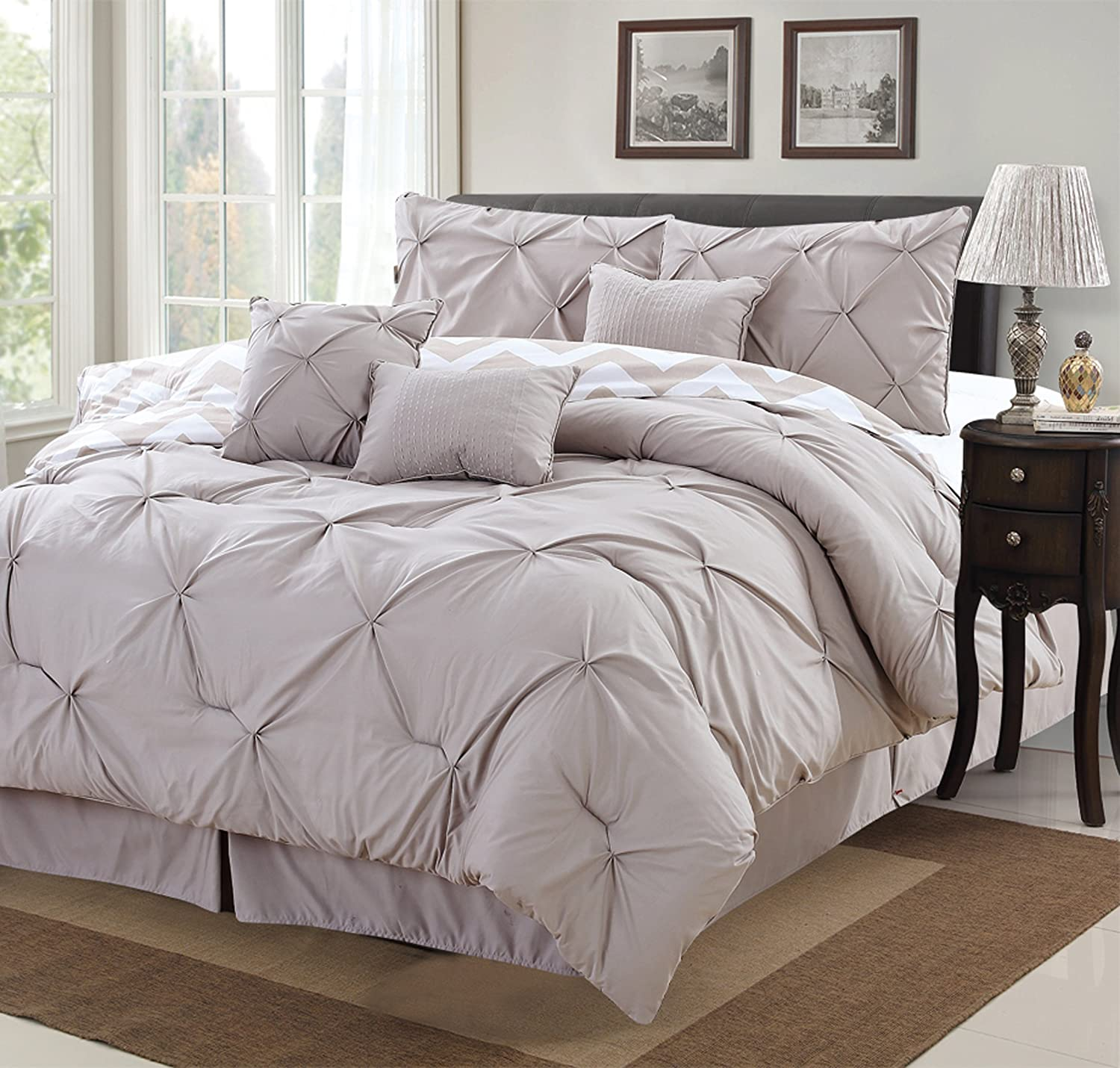 pleat nikola piece pinch cover set duvet pleated pintuck chic pin home