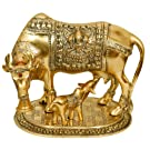 Nexplora Industries Large Gold Elegant Cow And Calf Metal Statue
