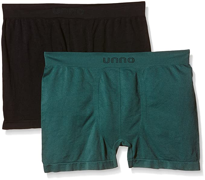 Unno AUUH101 - Boxer sin Costuras Microfibra para Hombre, Paquete de 2