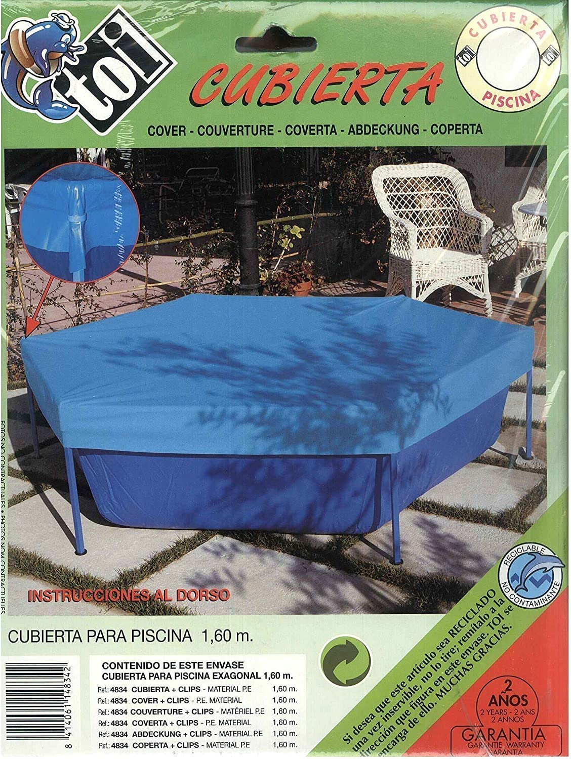 TOI - Cubierta tubular para piscinas tipo basic - 200: Amazon.es ...
