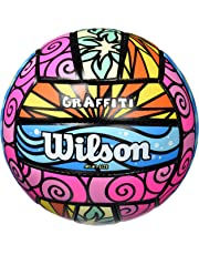 WILSON Palla da Beach Volley, Utilizzo all'aperto, Uso ricreativo, Graffiti Mini, Viola/Blu/Verde