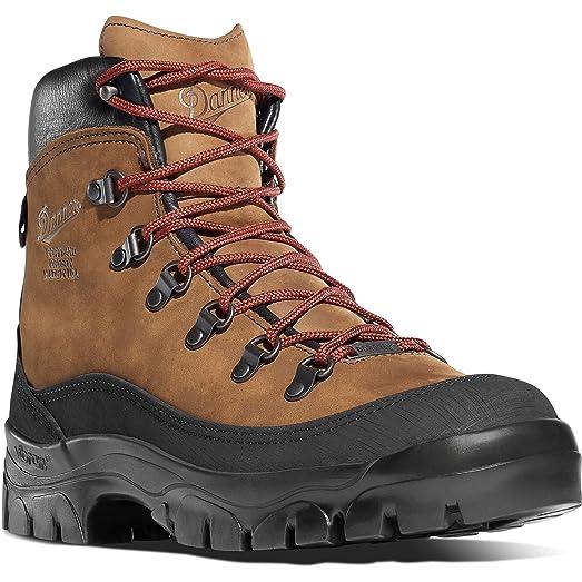 """Danner Men's Crater Rim 6"""" Boot Brown 11 R & Knit Cap Bundle"""