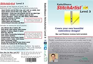 Embrilliance StitchArtist Level 3 Digitizing Embroidery Software for Mac & PC