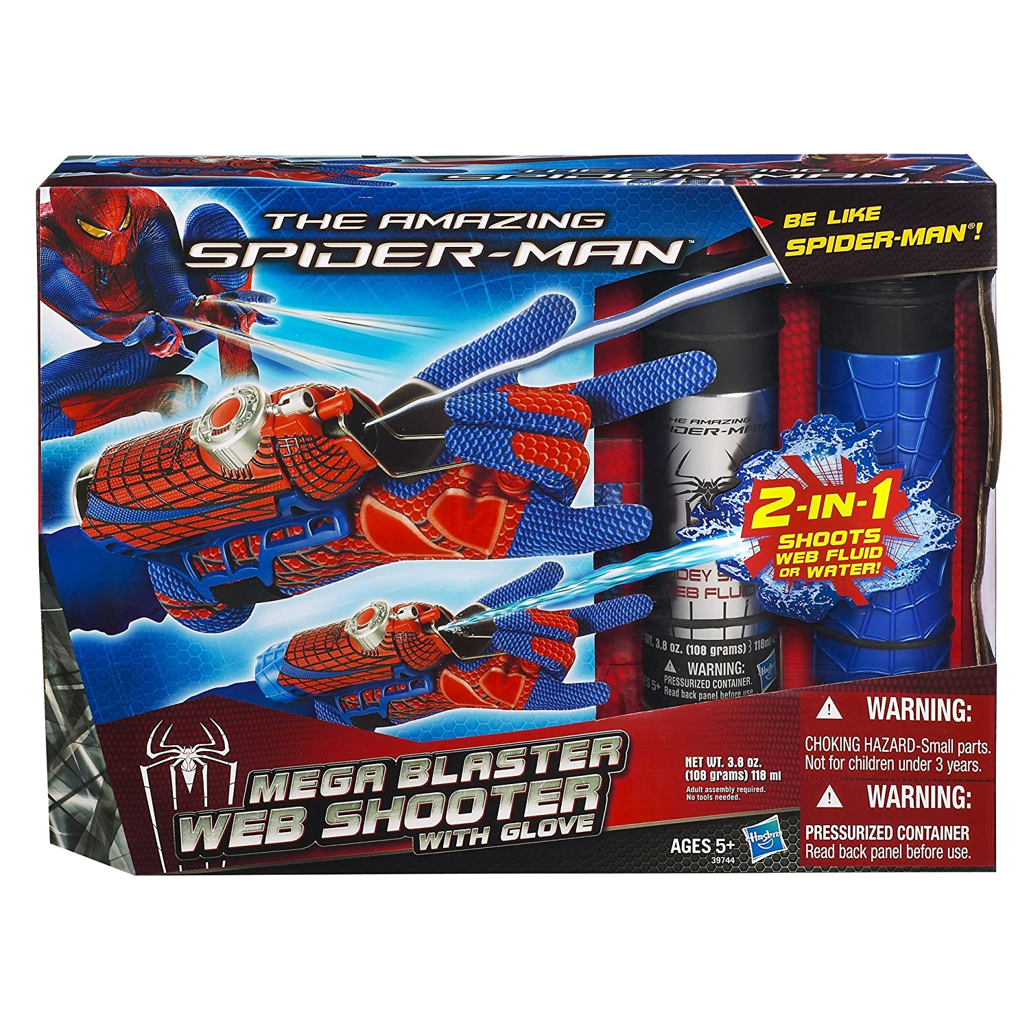 amazon com the amazing spider man mega blaster web shooter with