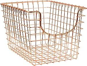 Spectrum Diversified Scoop Storage Basket, Small, Copper
