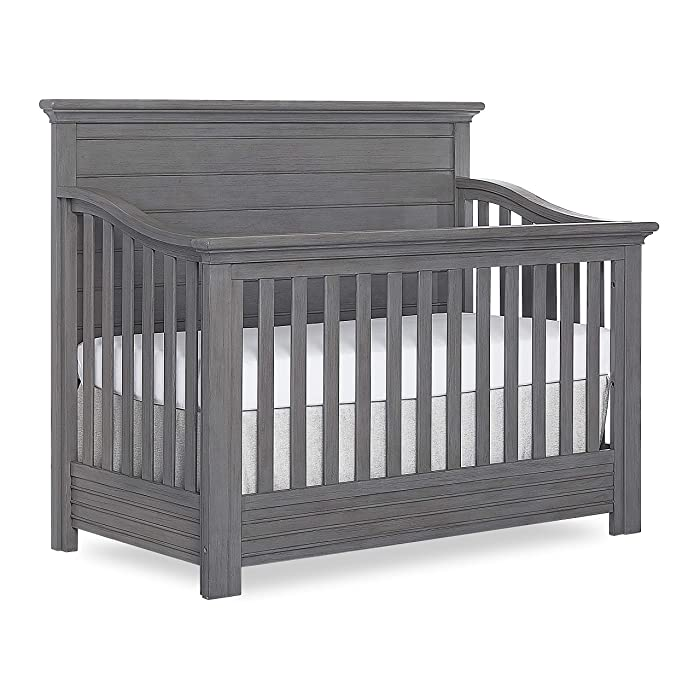 Evolur Waverly 5 in 1 Full Panel Convertible Crib, Rustic Grey