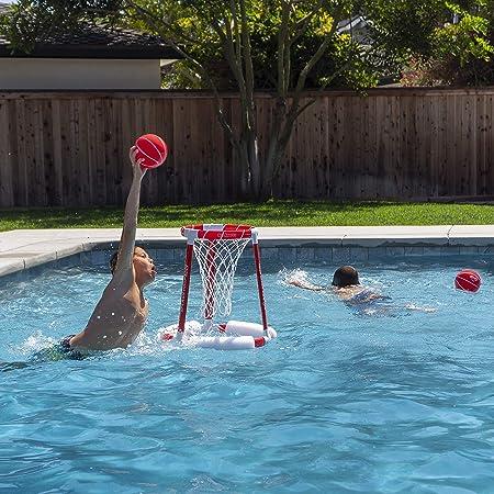 GoSports Splash Hoop 360 Juego de Baloncesto Flotante para Piscina ...