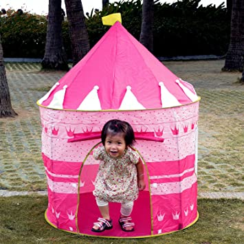 Yr.seasons Pink Portable Folding Princess Play Tent Children Kids Castle Cubby Play House by  sc 1 st  Amazon.com & Amazon.com: Yr.seasons Pink Portable Folding Princess Play Tent ...