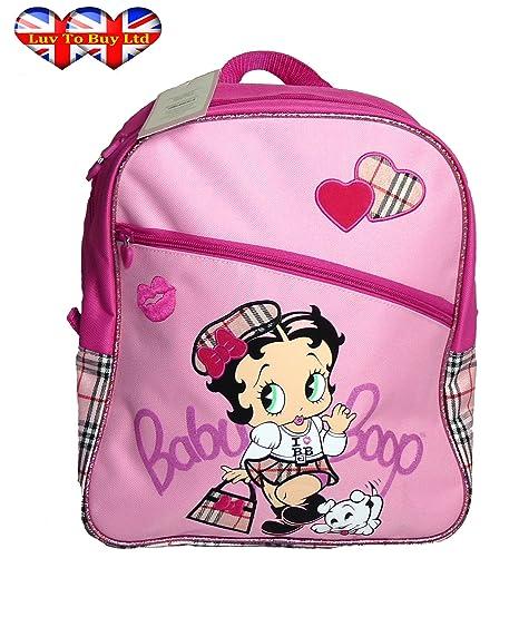 Adorable Pink Betty Boop Bolsa de Escuela, Mochila Oficialmente Licenciada