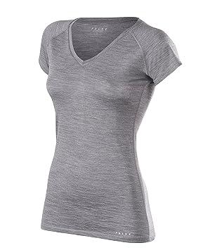 FALKE Silk Lana Pantalones Cortos leeved Camiseta Women – Ropa Interior Deportiva, Mujer, Silk