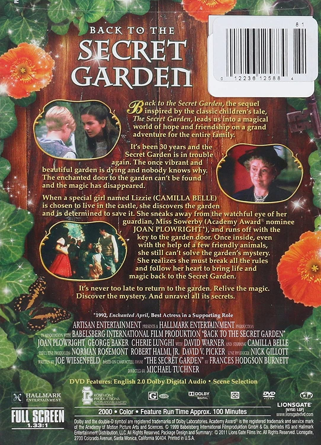 Amazon.com: Back to the Secret Garden: Joan Plowright, Cherie Lunghi ...