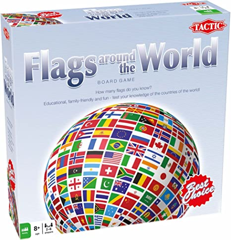 US Flags Around The World Family Board Game