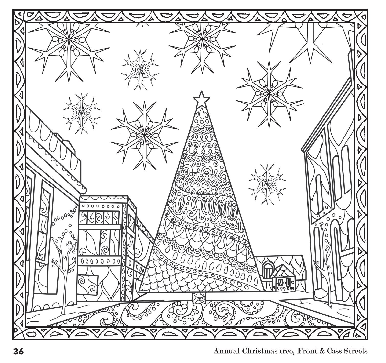 Amazon Com Etchings The Traverse City Coloring Book For Grown Ups
