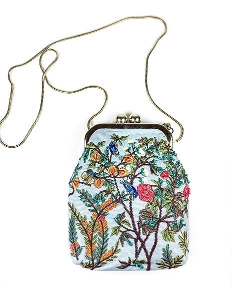 6e7b4eafc6d Zara Women Mini embroidered crossbody bag with clasp 8356/204: Amazon.ca:  Shoes & Handbags