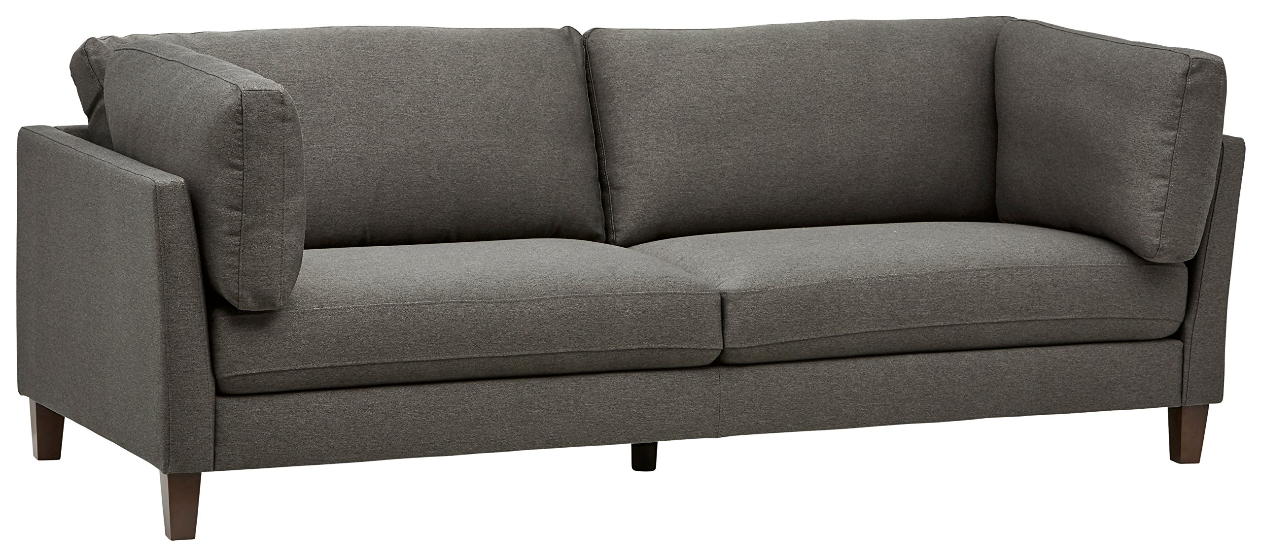 Rivet Midtown Mid-Century Modern Upholstered Sectional Sofa Couch, 92.1''W, Charcoal by Rivet