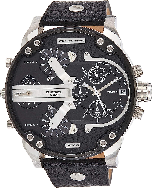 Diesel Reloj Analogico para Hombre de Cuarzo con Correa en Cuero DZ7313