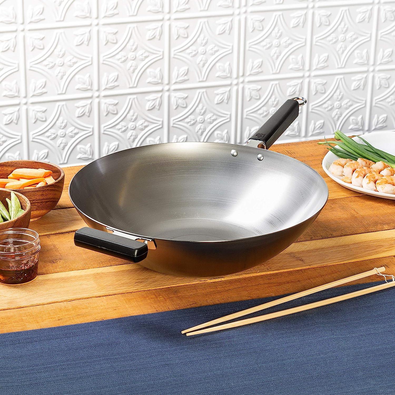 Joyce Chen Flat Bottom Wok, Standard, Metal: Joyce Chen Wok: Kitchen & Dining