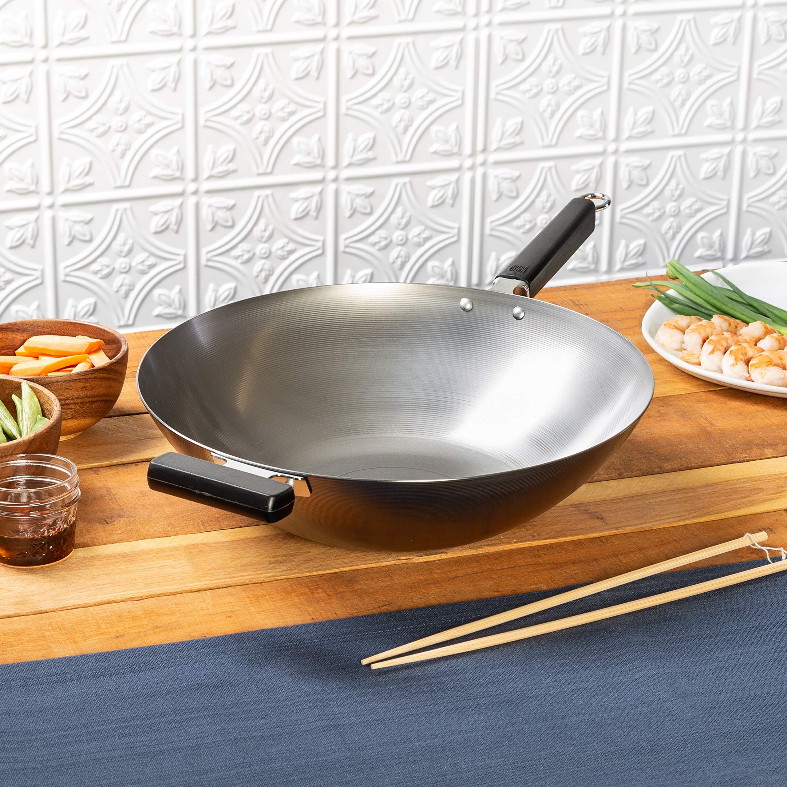 Joyce Chen Flat Bottom Wok, Standard, Metal