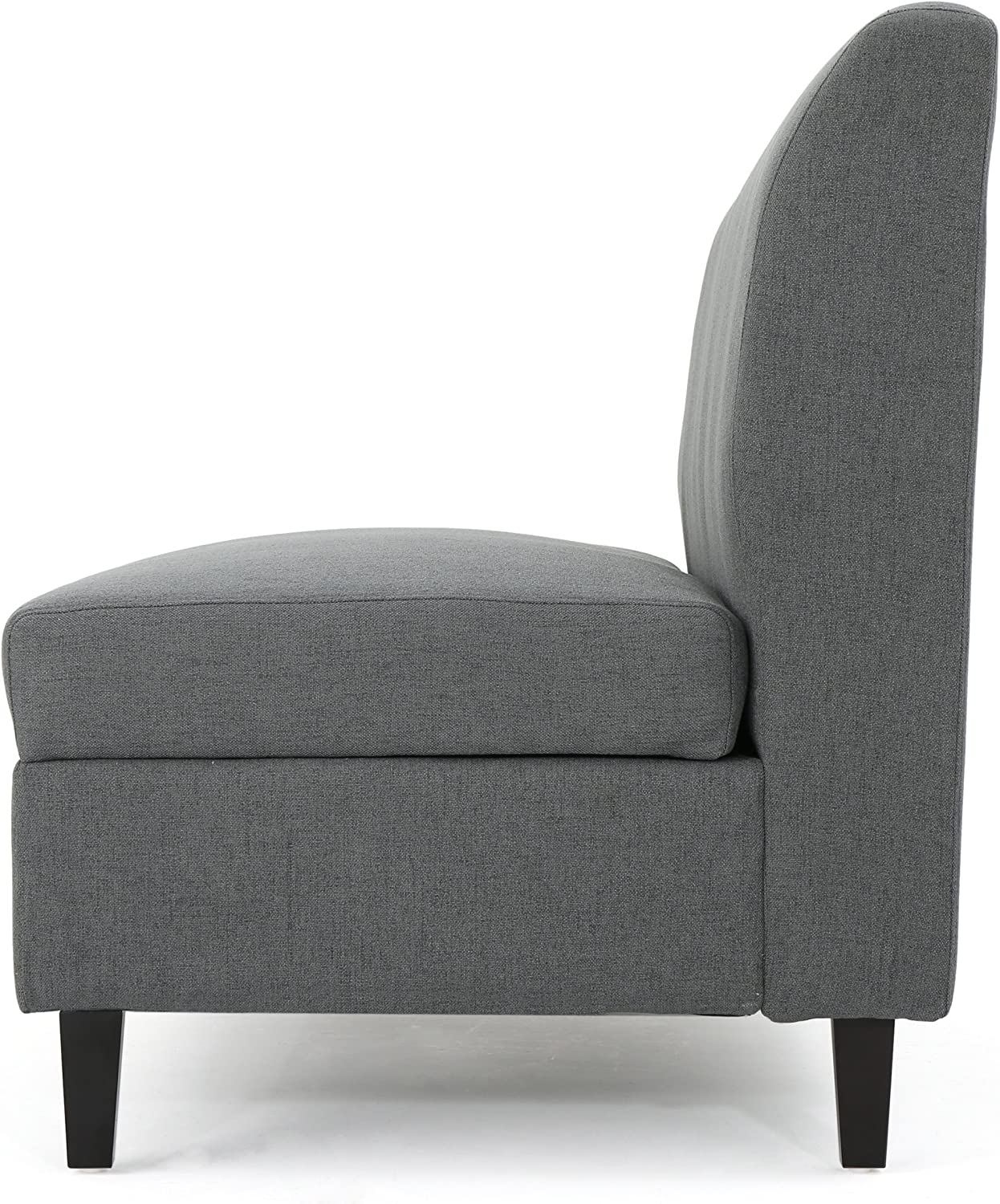 Christopher Knight Home Tovah Fabric Storage Loveseat, Charcoal: Kitchen & Dining