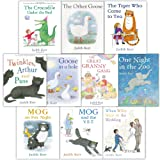 The Judith Kerr Collection 10 Books Set (The Tiger Who Came to Tea, The Crocodile Under the Bed, The Great Granny Gang, When Willy Went to the Wedding, One Night in the Zoo, Twinkles, Arthur and Puss, Goose In A Hole, The Other Goose, Mog on Fox Night, Mog and the V.E.T.)