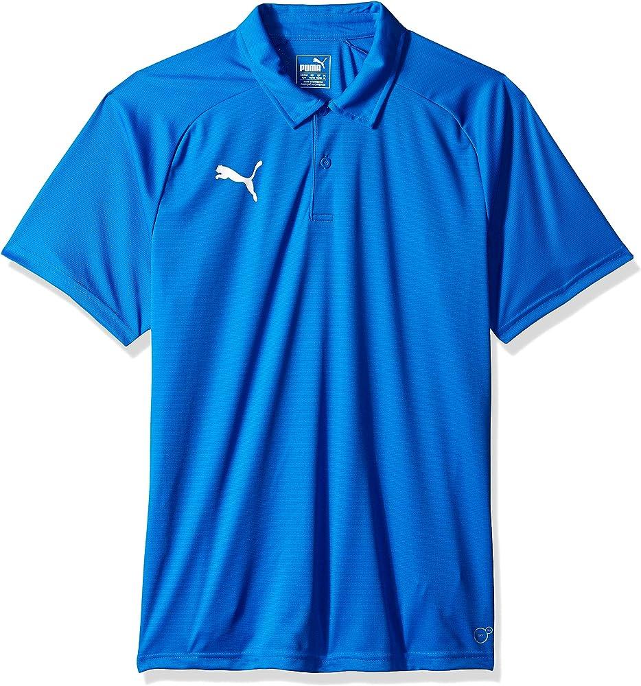 blue and white puma shirt