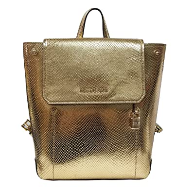 e9979f04a0e6 Amazon.com: Michael Kors Hayes MD Backpack Leather Gold (35F8GYEB2M):  Convergence Shop