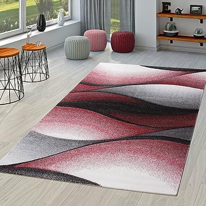Tappeto moderno salotto astratto onde design contorno taglio in ...