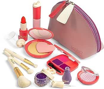 Litti Pritti Set De Maquillaje Pretende para Niñas - 11 Pieza De Kit De Maquillaje De Cosméticos Juego - PU Estuche De Cuero: Amazon.es: Juguetes y juegos