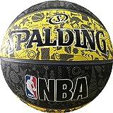 Spalding NBA Graffiti Basketball (Black/Yellow)
