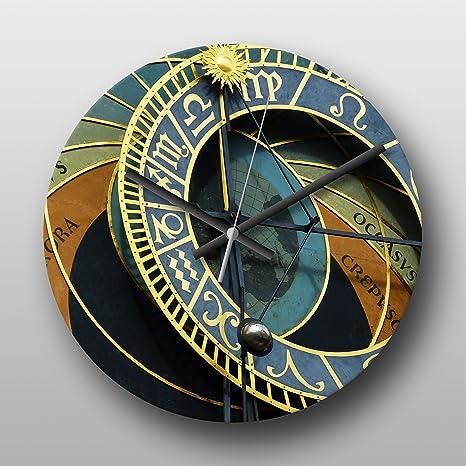 Reloj de pared reloj astronómico Praga República Checa Nº 1 – Reloj de cuarzo, circular