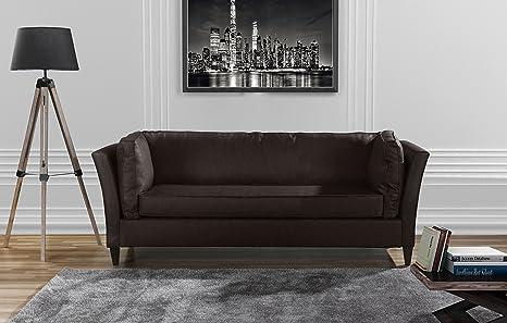 Fabulous Divano Roma Furniture Modern Club Style Bonded Leather Living Room Sofa Brown Evergreenethics Interior Chair Design Evergreenethicsorg