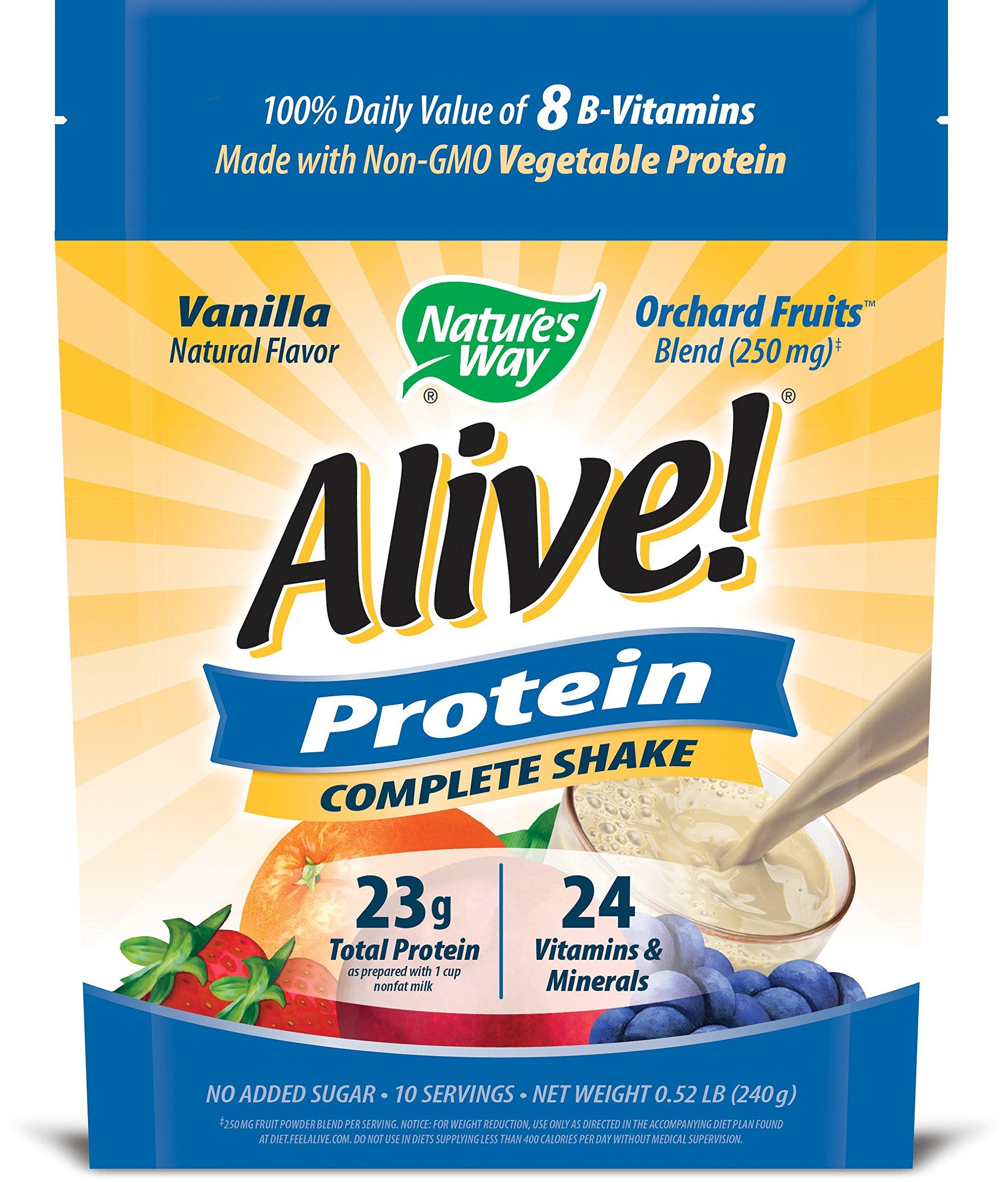 Nature S Way Alive Protein Complete Shake Vanilla