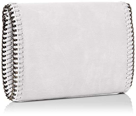SWANKYSWANS Womens Winona Chain Faux Leather Clutch Bag White Clutch White:  Amazon.co.uk: Shoes & Bags