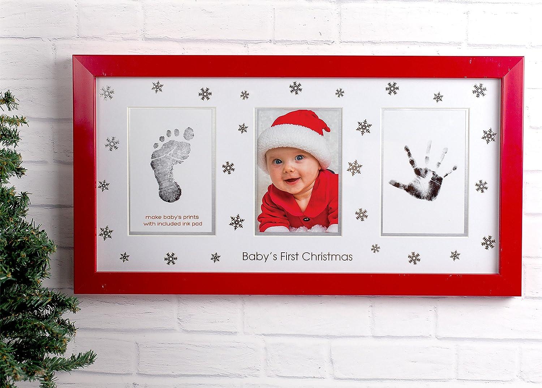 Amazon.com : Tiny Ideas Deluxe Baby\'s Prints Holiday Keepsake Photo ...