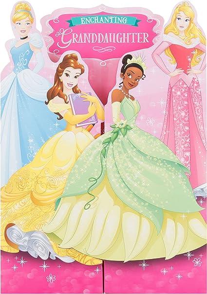 Carte D Anniversaire Disney Princess Pour Petite Fille Taille Moyenne Par Hallmark Amazon Fr Fournitures De Bureau