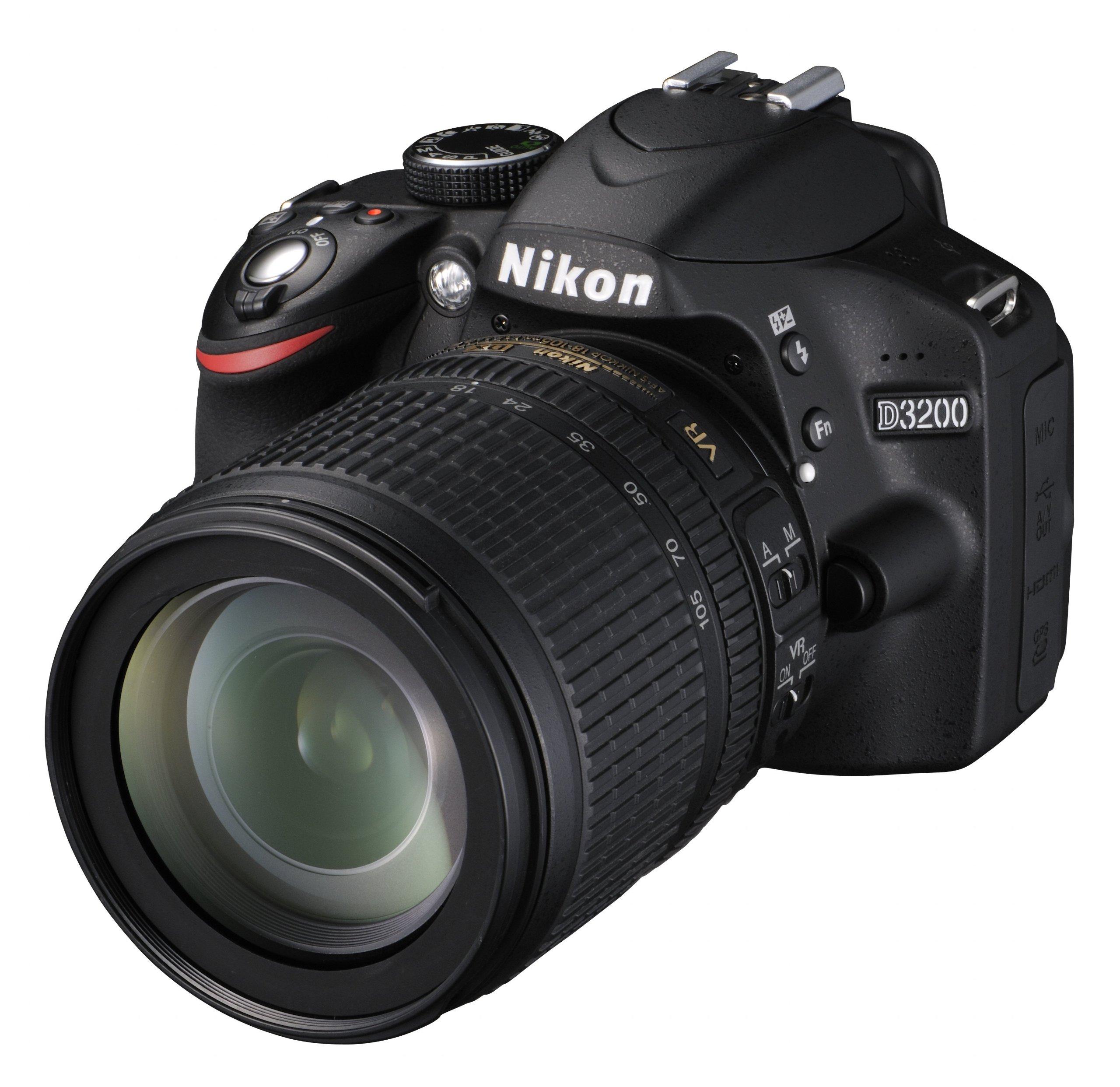 Nikon D3200 +18-105VR , Fotocamera Reflex, Colore Nero, Obiettivo incluso [Versione EU] product image