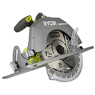 Ryobi P508 One+ 18V Lithium Ion Cordless Brushless 7 1/4 3,800 RPM Circular Saw w/Included Blade (Battery Not Included, Power Tool Only)