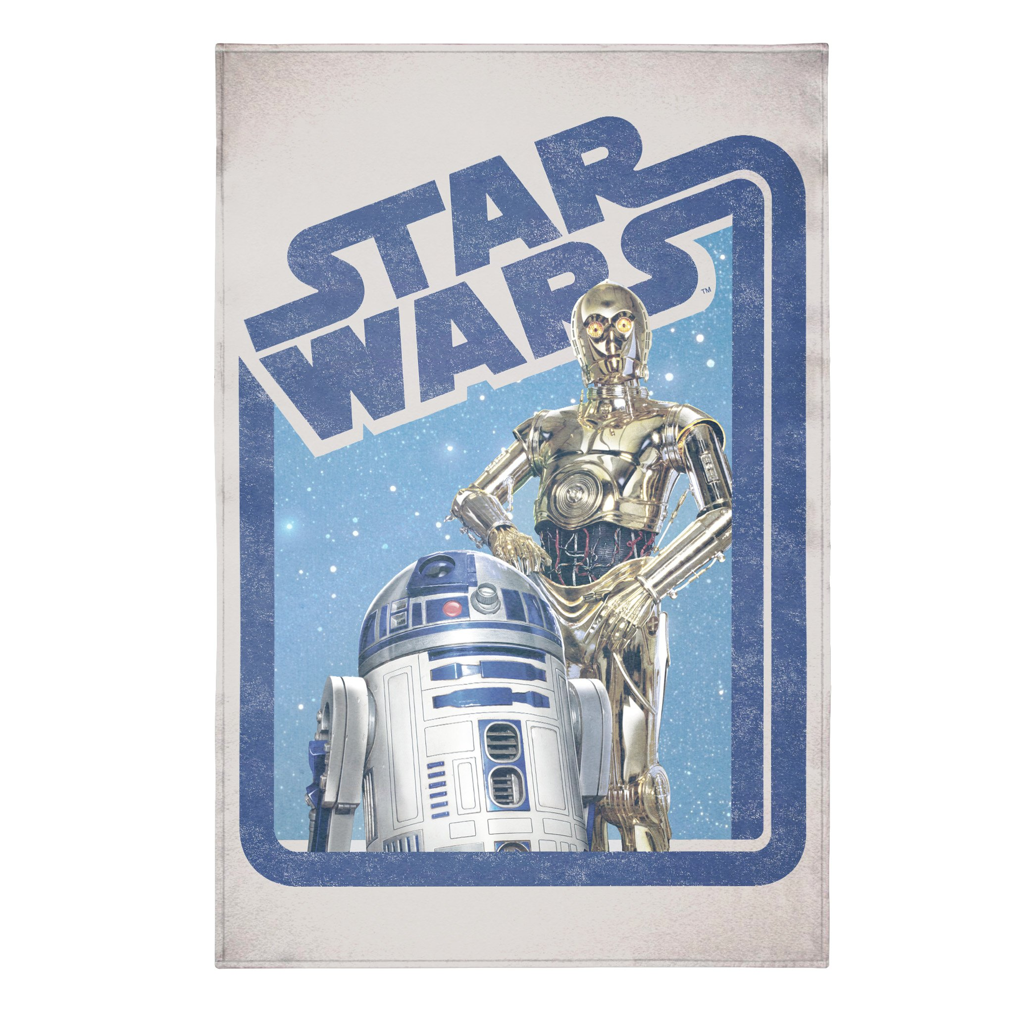 Jay Franco Star Wars Classic Droids Blanket-Measures 62 x 90 inches, Kids Bedding Features C-3PO and R2-D2-Fade Resistant Super Soft Fleece-(Official Product) by Jay Franco