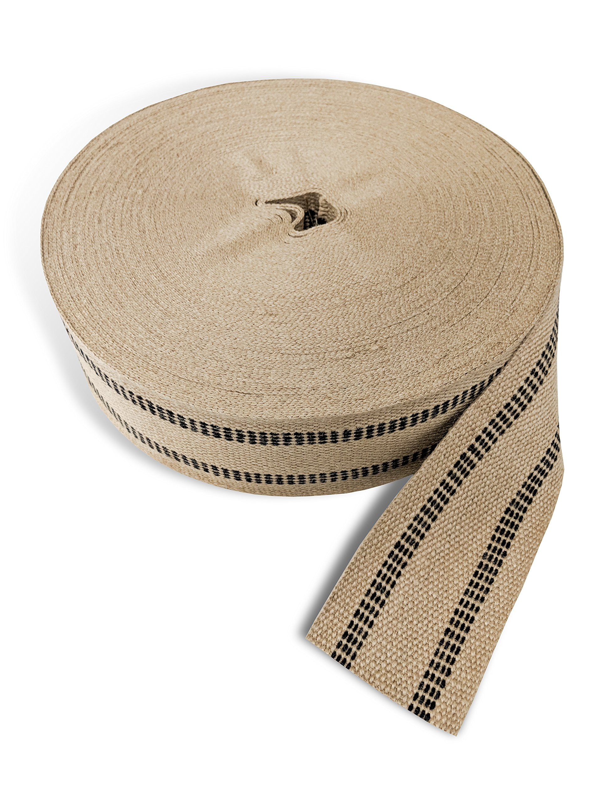 Wholesale Upholstery Supply 72 YDS Upholstery or Craft Jute Webbing, 3.5'' x 72 Yds - Natural with Black Stripes by Wholesale Upholstery Supply (Image #3)