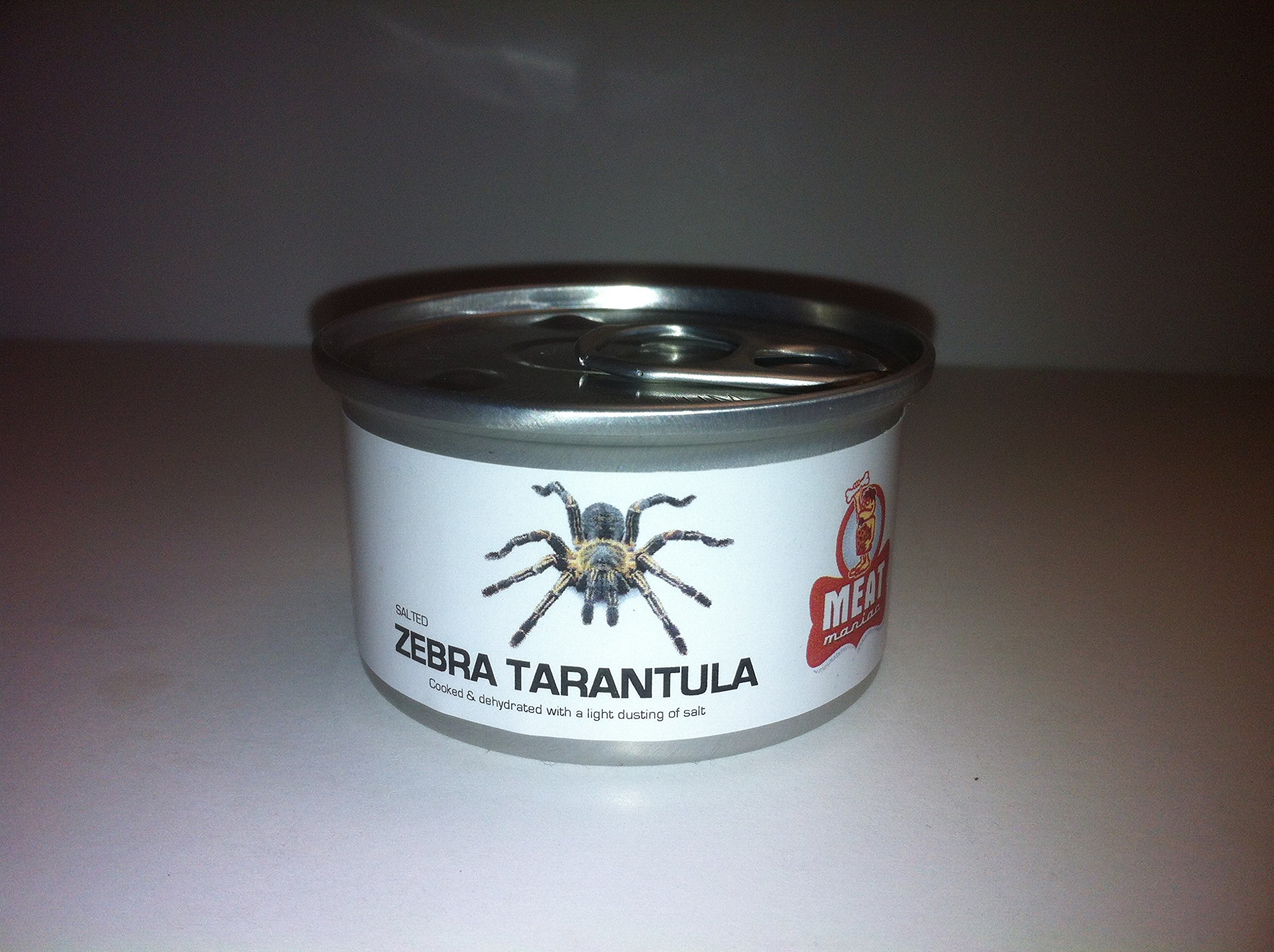 Meat Maniac Salted Canned Zebra Tarantula