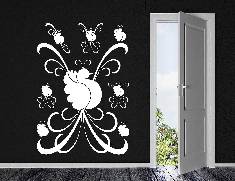 DesignToRefine Bird of Paradise Beautiful Pattern Motif Decor Wall Sticker Vinyl Decal (n026 XL 45 in by 60 in)