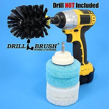 Cordless Scrubbing Spinning Brush Scrub Pad Bathroom  Tub and Tile Shower  Kit. Amazon com  Cordless Scrubbing Spinning Brush Scrub Pad Bathroom