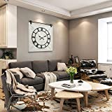 HAWOO Farmhouse Large Barn Door Wall Clock, Big Wall Clock with Silent Battery Operated Roman Numerals, Rustic…