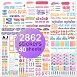 Planner Stickers - Value Pack 40 Sheets/2682 Planner Stickers And Accessories for Adults | Any Activity, Happy Event or Holid