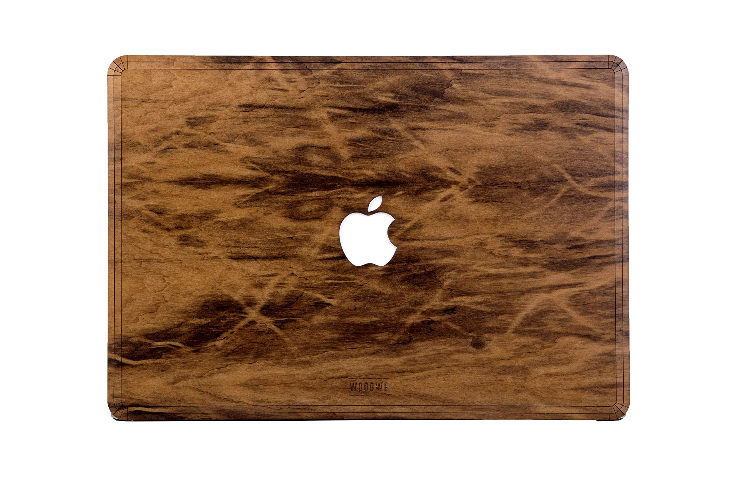 WOODWE Real Wood MacBook Case Cover Skin Sticker Decal for Mac pro 15 inch Retina Display | Model: A1398; Mid 2012 – Mid 2015 | Genuine & Natural IMBUIA Wood | TOP&Bottom Cover by WOODWE (Image #1)