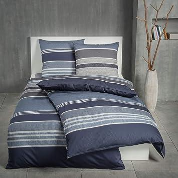 Blau Graue Bettwasche